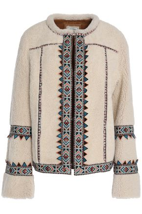TALITHA Embroidered shearling jacket