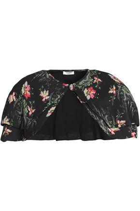 VILSHENKO Floral-print silk cape