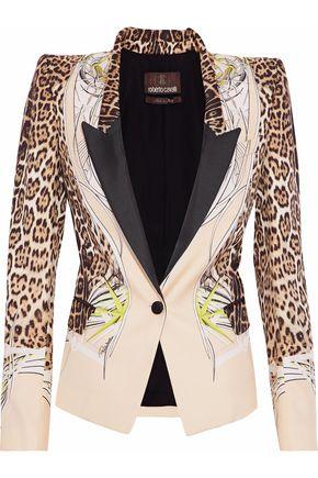 ROBERTO CAVALLI Printed silk-faille blazer