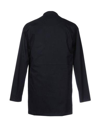 Фото 2 - Легкое пальто от CORELATE темно-синего цвета