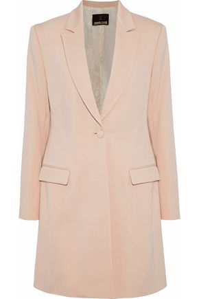 ROBERTO CAVALLI Wool-blend twill coat