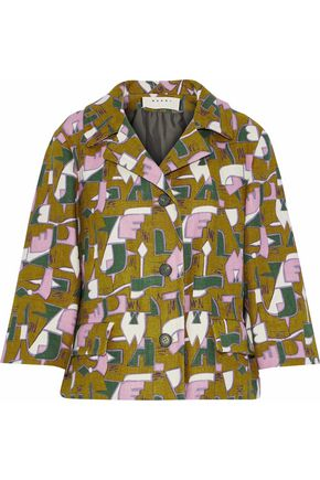 MARNI Printed tweed jacket