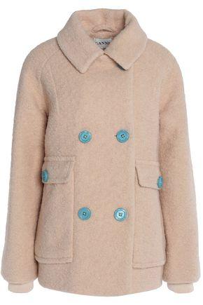 GANNI Wool-bouclé coat