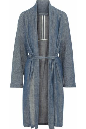 ROSETTA GETTY Belted linen-blend chambray jacket