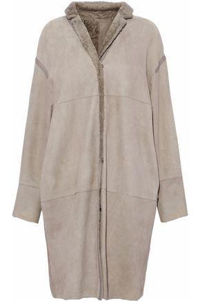 YVES SALOMON Reversible suede coat