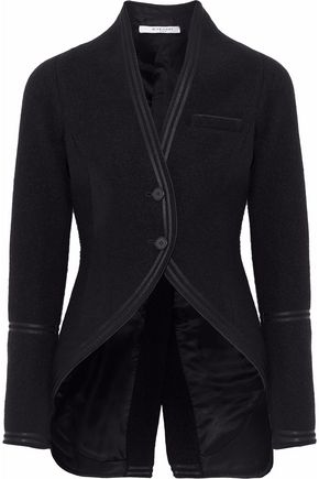 GIVENCHY Satin-trimmed wool jacket