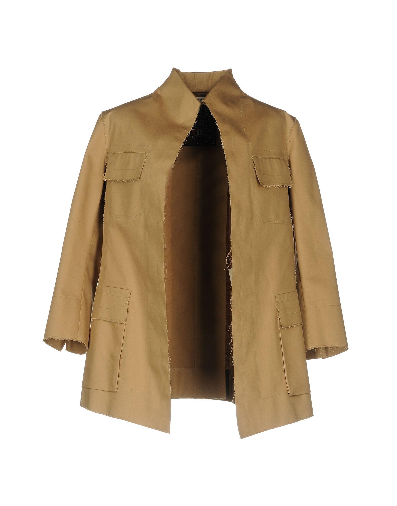MAFALDA VON HESSEN Full-Length Jacket in Camel