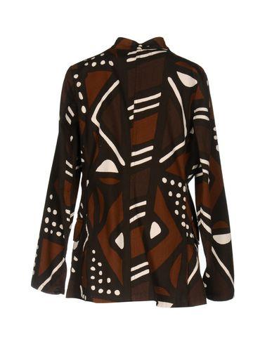 Фото 2 - Женский пиджак LABO.ART темно-коричневого цвета