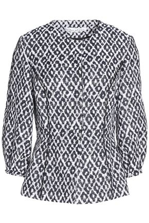 OSCAR DE LA RENTA Printed cotton-blend jacket