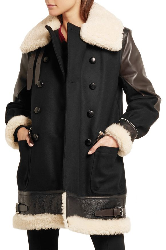 Ismir shearling and leather-trimmed wool-blend felt coat | ALTUZARRA | Sale  up to 70% off | THE OUTNET