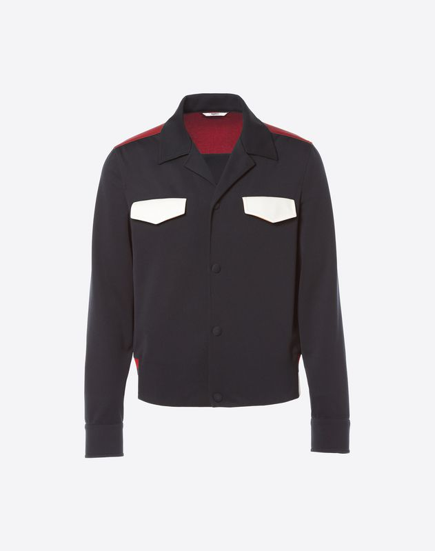 Technical jersey blouson