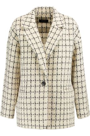 ISABEL MARANT Checked wool-blend jacket