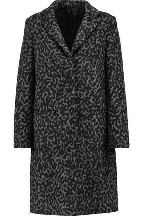 MSGM Two-tone wool-blend fleece coat
