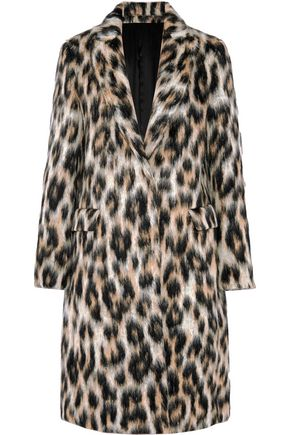 MSGM Leopard-print faux fur coat