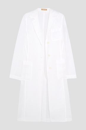 MICHAEL KORS COLLECTION Linen-gauze coat