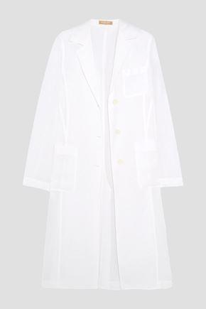 MICHAEL KORS COLLECTION Linen-gauze coat