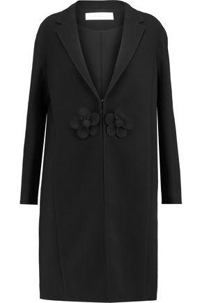 VICTORIA, VICTORIA BECKHAM Floral-appliquéd wool-crepe coat