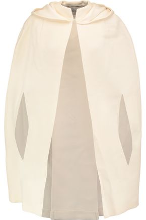 VALENTINO Wool and silk-blend twill hooded cape