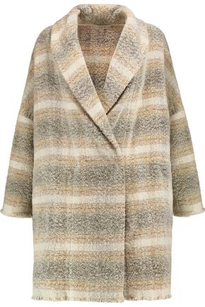 IRO Checked wool-blend coat