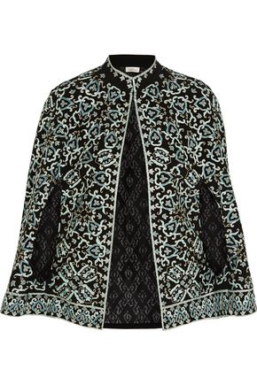 TALITHA Embroidered silk cape