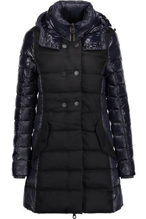 DUVETICA Callipatira quilted shell and wool-blend hooded coat