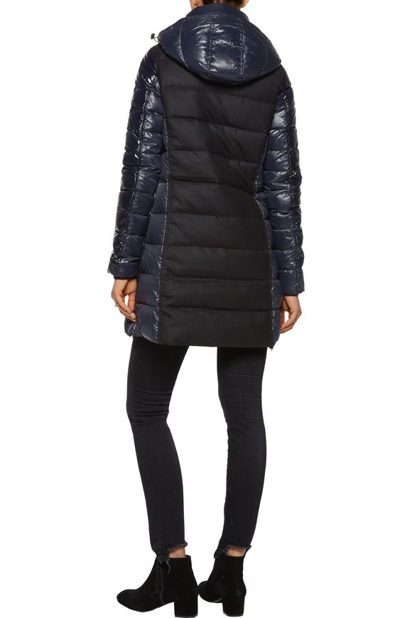 Callipatira quilted shell and wool-blend hooded coat | DUVETICA | Sale up  to 70% off | THE OUTNET