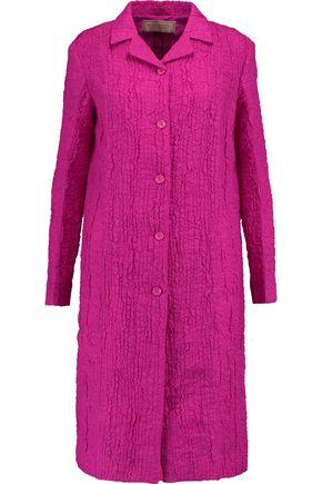 NINA RICCI Silk-blend cloqué coat