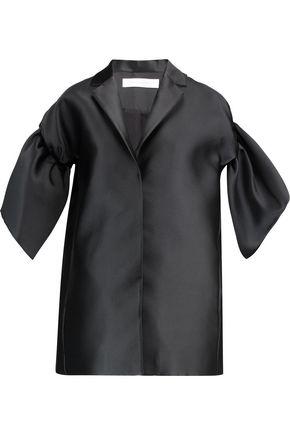 VICTORIA, VICTORIA BECKHAM Ruffled satin coat