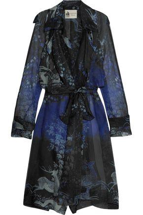 LANVIN Belted printed silk coat