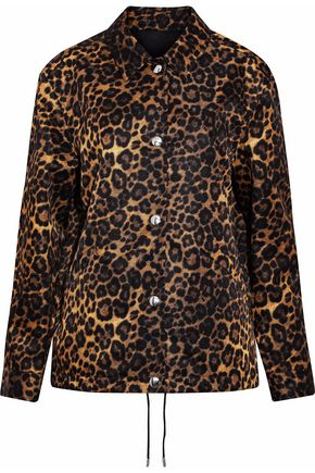 ALEXANDER WANG Leopard-print satin jacket