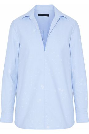 ALEXANDER WANG Distressed poplin shirt