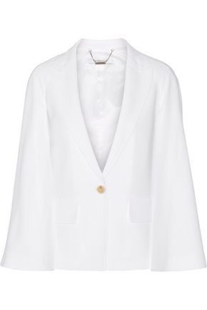GIVENCHY Cape-effect blazer in white stretch-cady