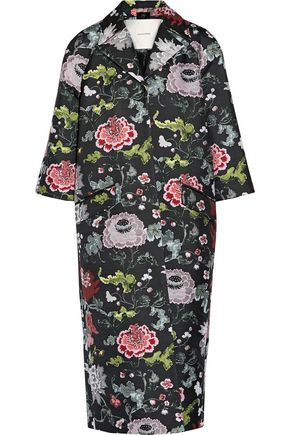 ADAM LIPPES Opera floral-jacquard coat