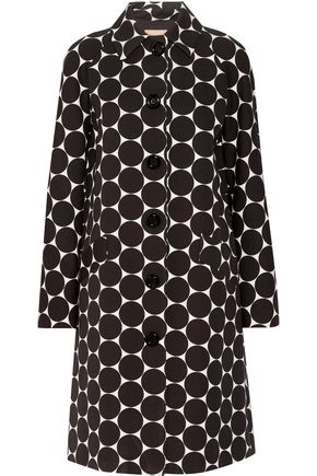 MICHAEL KORS COLLECTION Polka-dot cotton and silk-blend matelassé coat