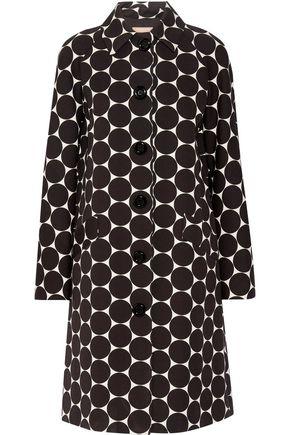 MICHAEL KORS COLLECTION Polka-dot cotton and silk-blend matelassé coat