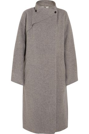 TOPSHOP UNIQUE Brushed-wool coat