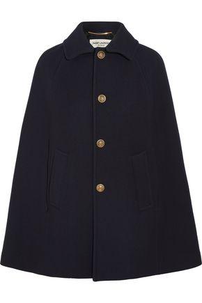 SAINT LAURENT Wool-blend twill cape