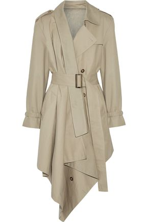 MICHAEL KORS COLLECTION Asymmetric cotton-gabardine trench coat