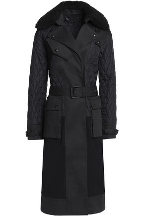 BELSTAFF Hildie shearling-trimmed paneled cotton-twill and quilted shell coat