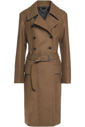 BELSTAFF Beatrice belted wool-blend felt trench coat
