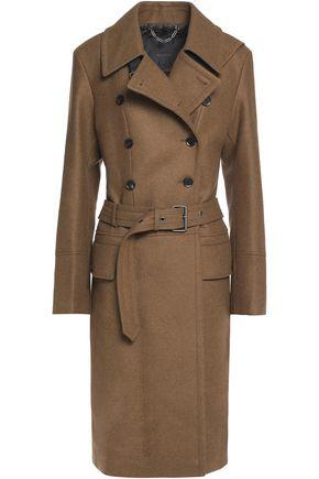 BELSTAFF Beatrice belted wool-blend felt trench coat