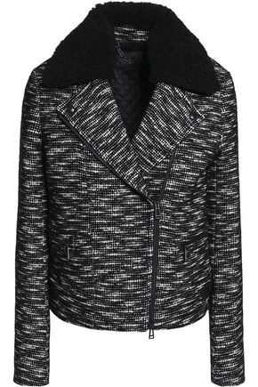 BELSTAFF Kingsley shearling-trimmed wool-blend tweed jacket