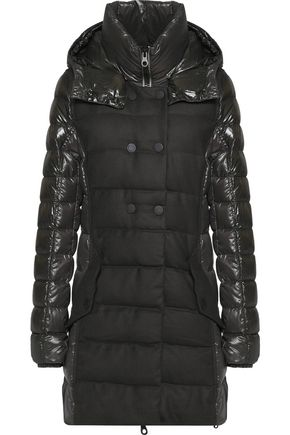 DUVETICA Callipatira quilted paneled shell and twill hooded down coat