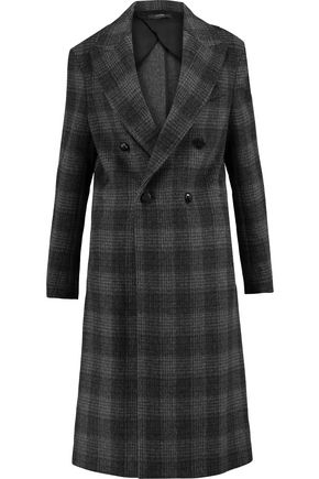 JOSEPH Osborne double-breasted checked wool-blend coat