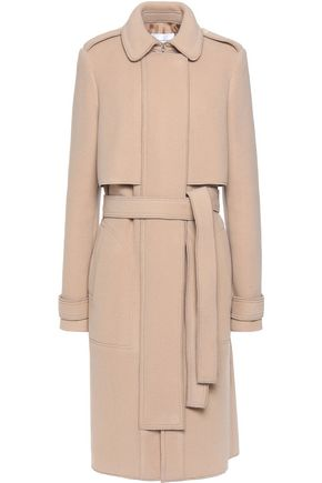 CARVEN Belted wool-blend coat