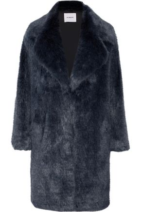 AINEA Two-tone faux fur coat