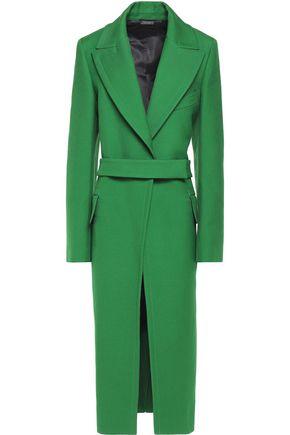 JIL SANDER Belted wool-twill coat