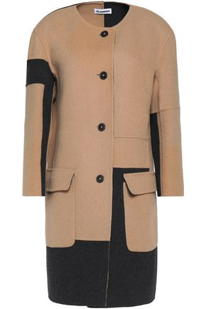 JIL SANDER Two-tone wool coat