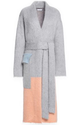 VIONNET Color-block mohair-blend coat