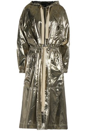 ISABEL MARANT Metallic silk coat